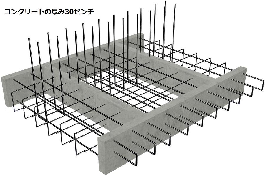 核シェルターのコンクリート
